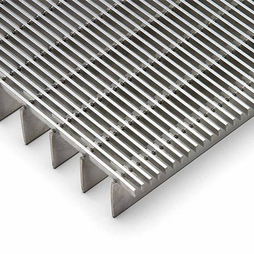Welded stainless steel bar grating with 11/16inch spacing